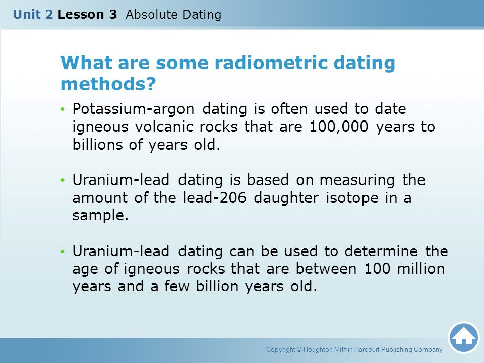 What rocks are used in radiometric dating