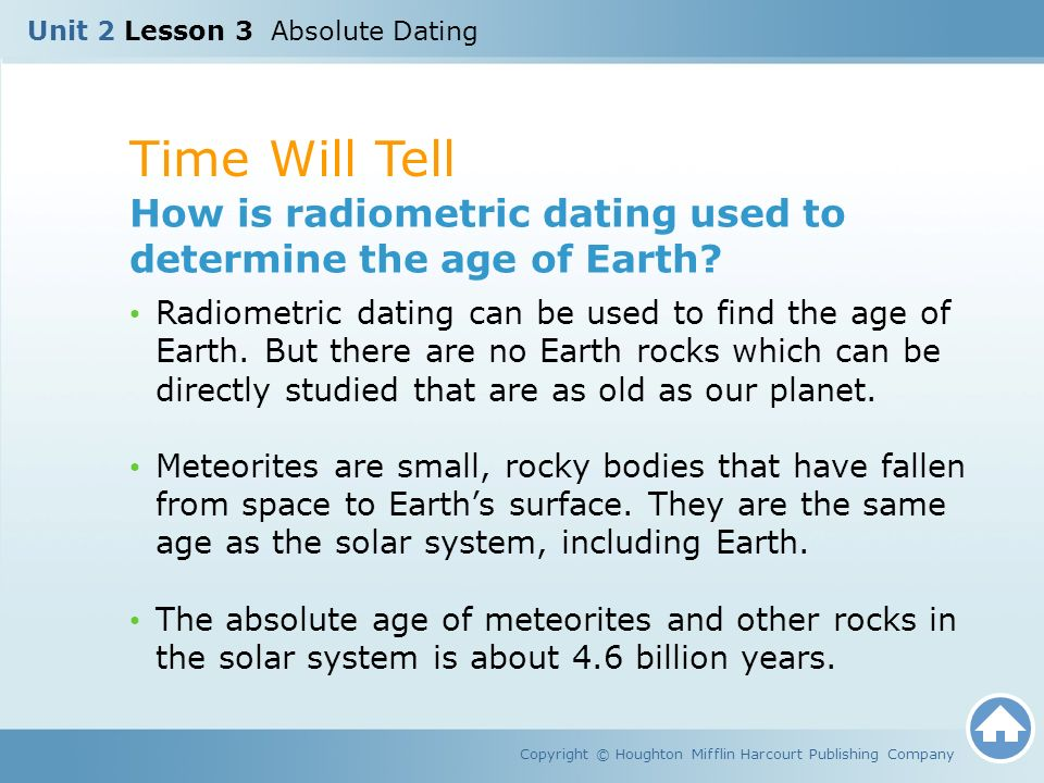 What Is The Age Of The Earth As Determined By Radiometric Hookup
