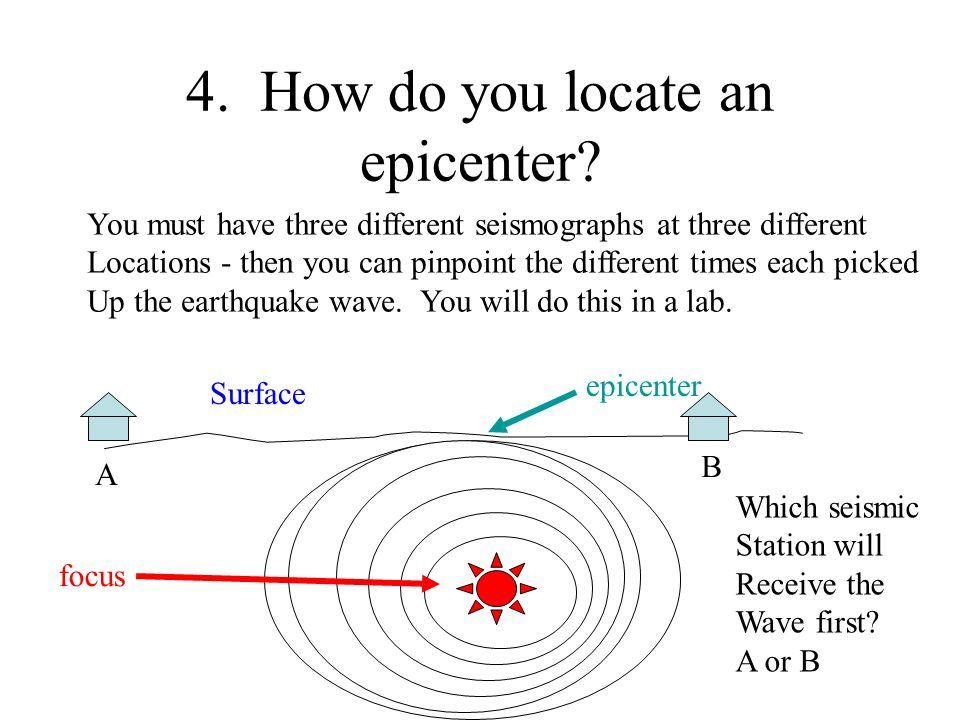 4. How do you locate an epicenter