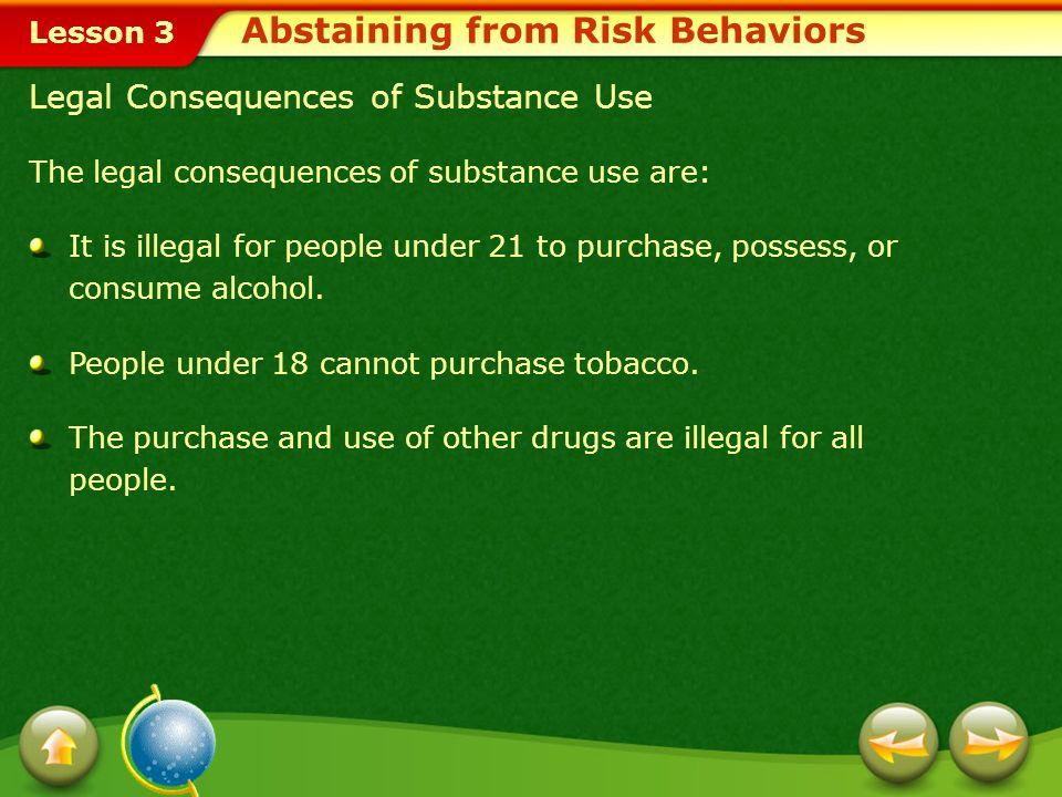 Abstaining from Risk Behaviors