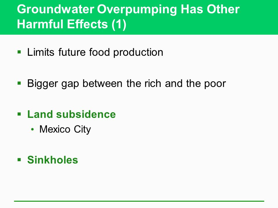 Groundwater Overpumping Has Other Harmful Effects (1)