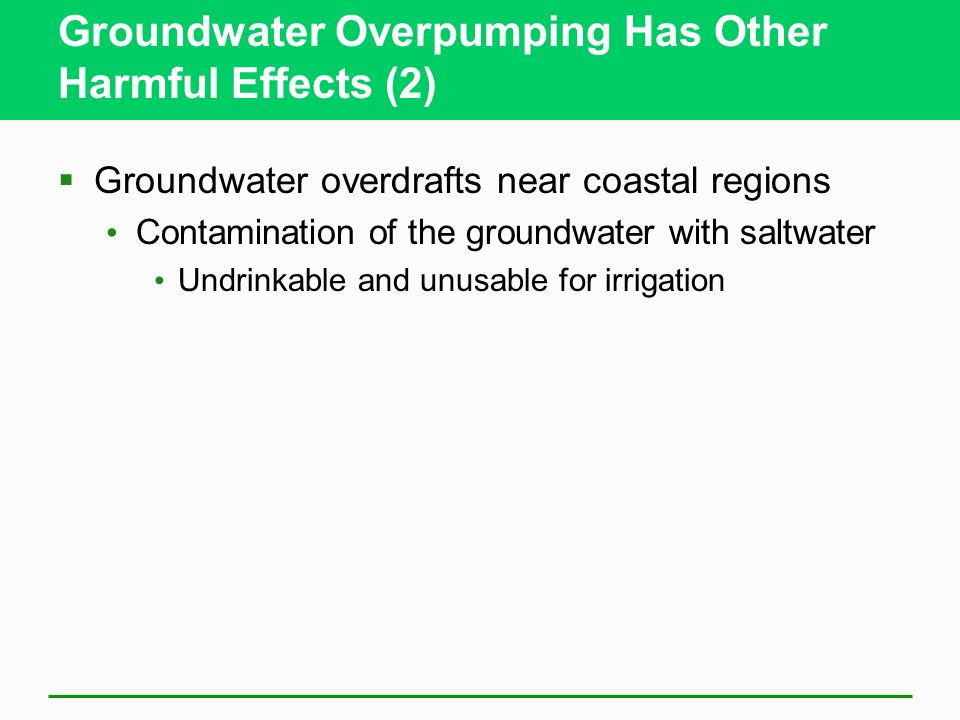 Groundwater Overpumping Has Other Harmful Effects (2)