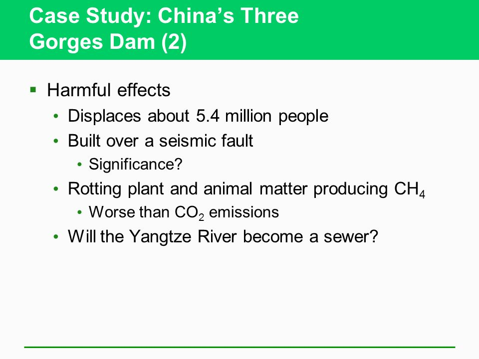 Case Study: China's Three Gorges Dam (2)