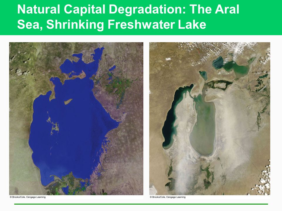 Natural Capital Degradation: The Aral Sea, Shrinking Freshwater Lake