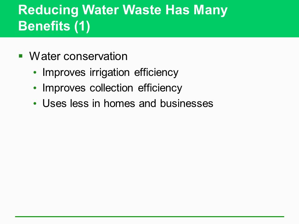 Reducing Water Waste Has Many Benefits (1)