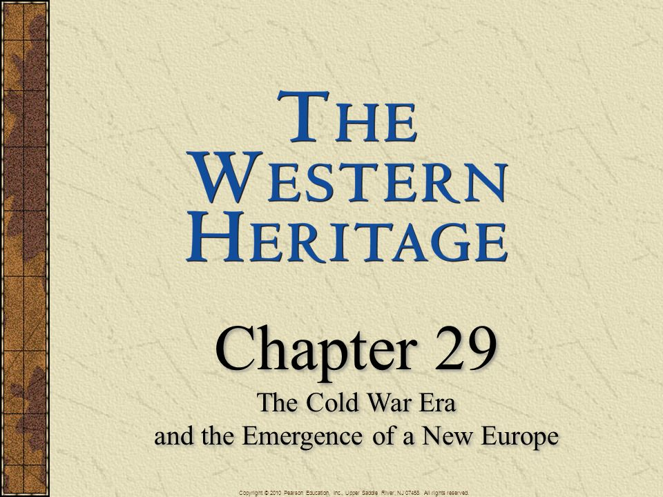 The Cold War Era and the Emergence of a New Europe
