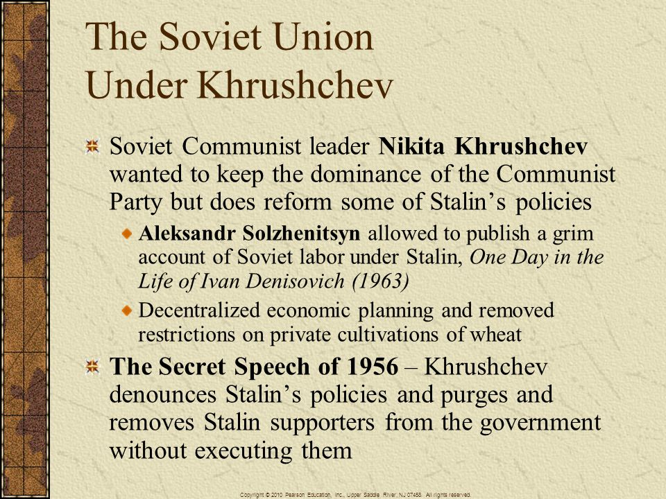 The Soviet Union Under Khrushchev