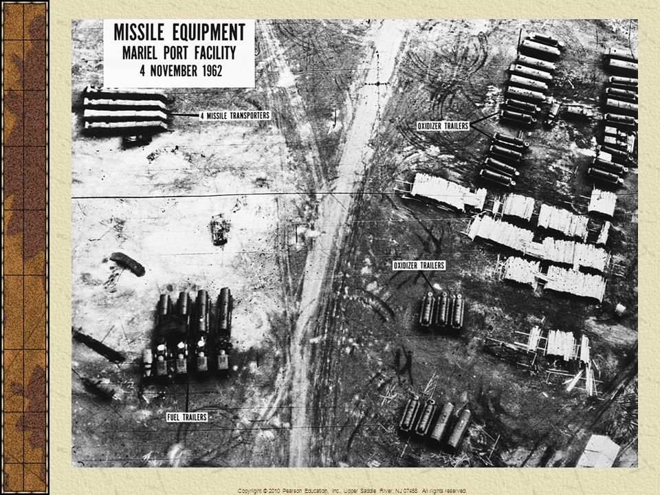 During the Cuban missile crisis of 1962, the American ambassador to the United Nations displayed photographs to persuade the world of the threat to the United States less than one hundred miles from its own shores.