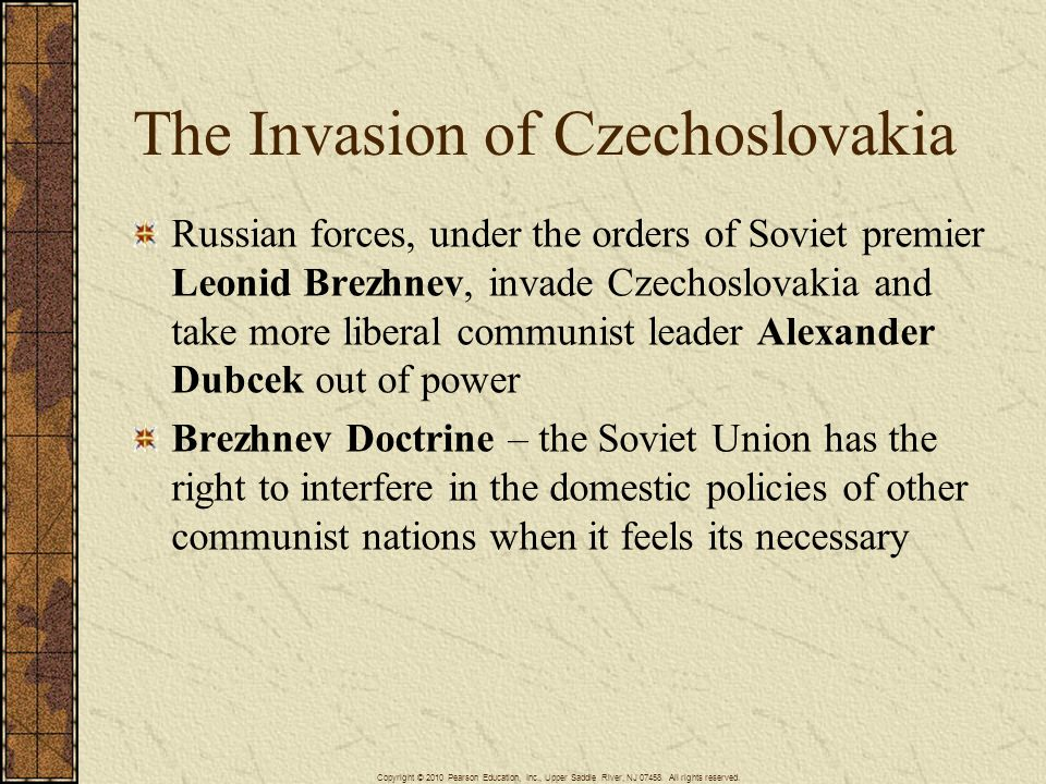 The Invasion of Czechoslovakia