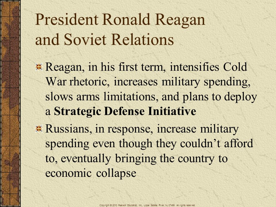 President Ronald Reagan and Soviet Relations
