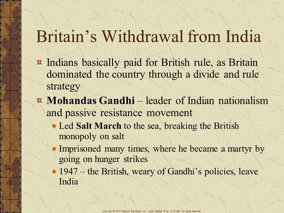 Britain's Withdrawal from India