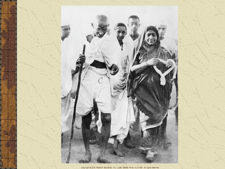 Ghandi led India from colonialism to independence