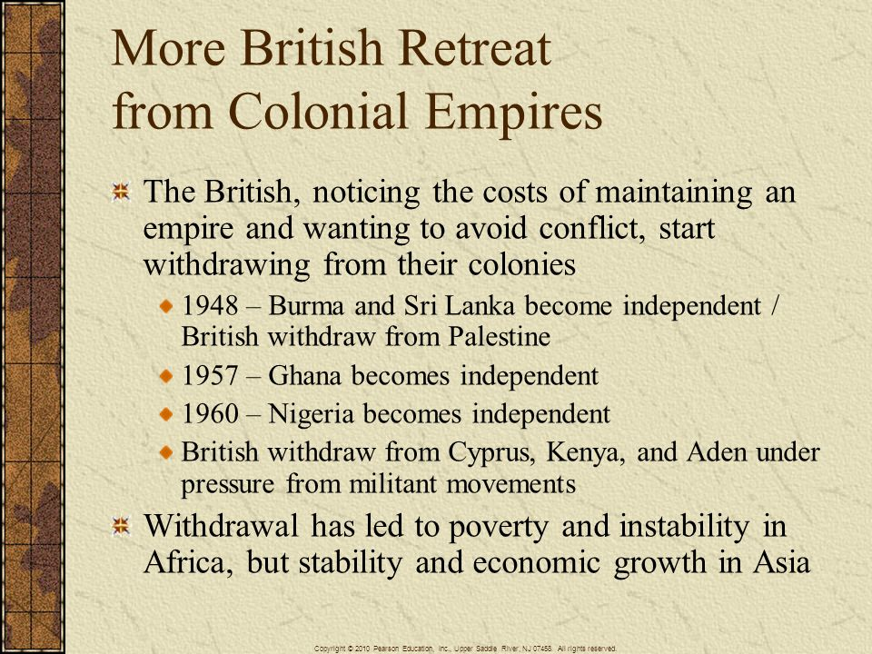 More British Retreat from Colonial Empires