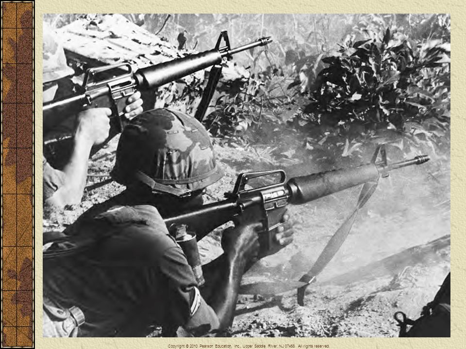 U. S. troops engaged in combat in Vietnam