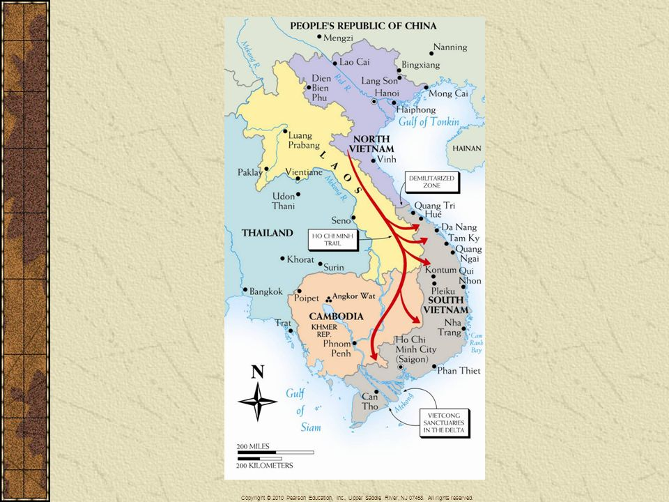 Map 29–7 VIETNAM AND ITS SOUTHEAST ASIAN NEIGHBORS The map identifies important locations associated with the war in Vietnam.