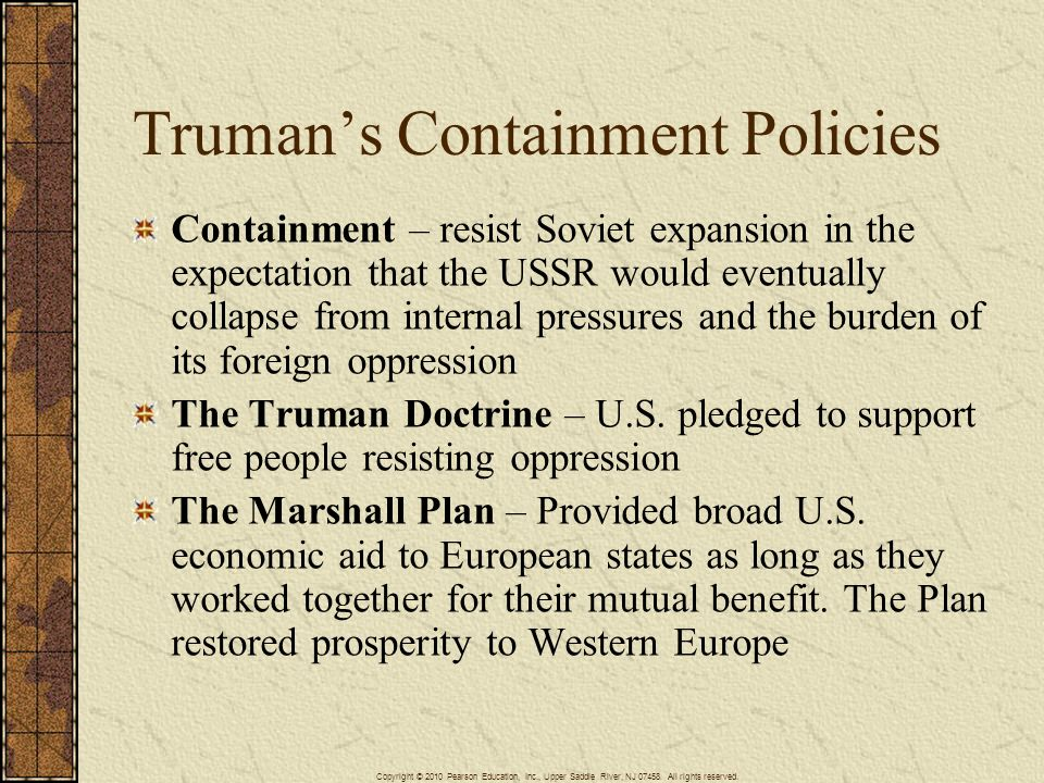 Truman's Containment Policies