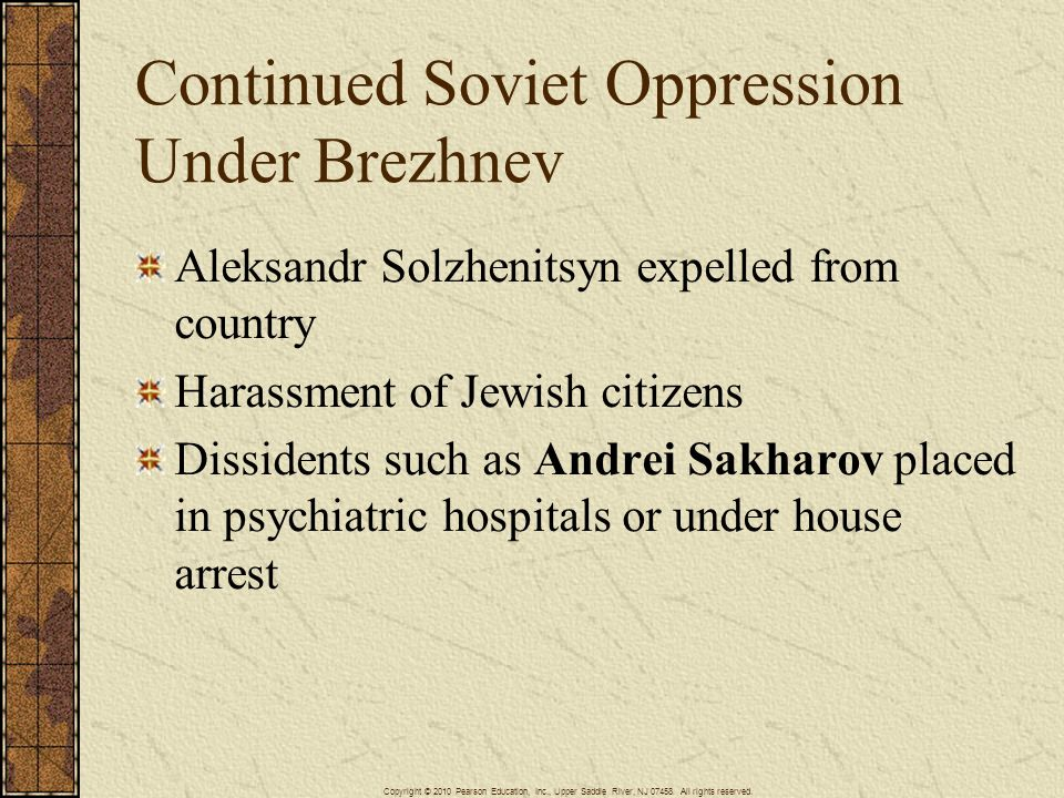 Continued Soviet Oppression Under Brezhnev