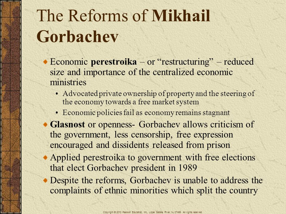 The Reforms of Mikhail Gorbachev