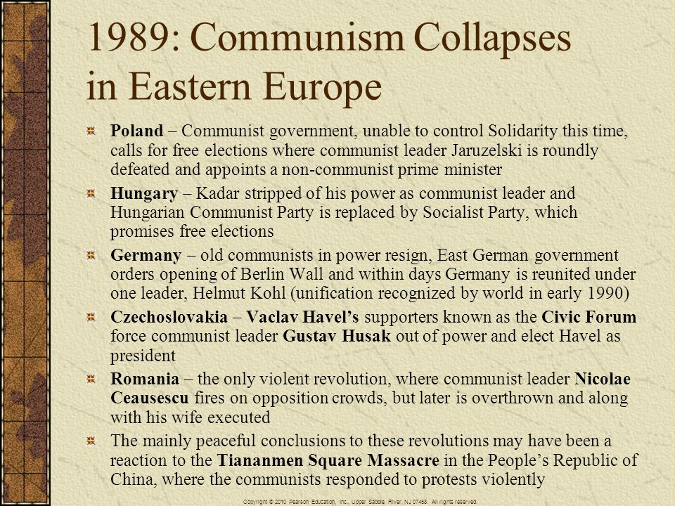 1989: Communism Collapses in Eastern Europe