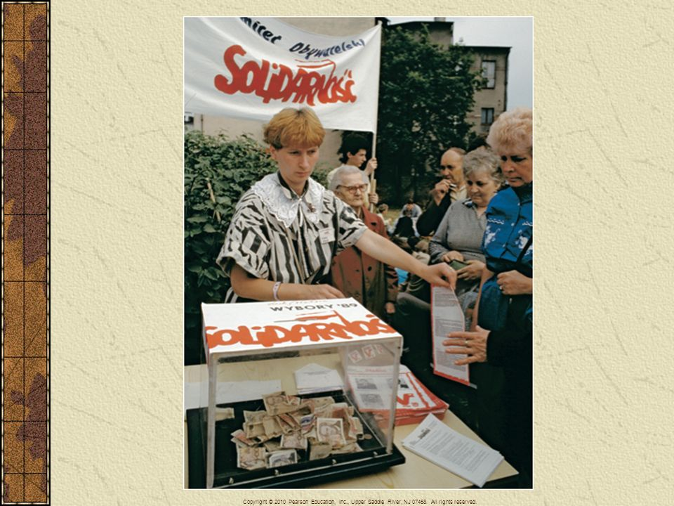 The Polish trade union Solidarity in 1989 successfully forced the Polish Communist government to hold free elections. In June of that year Solidarity, whose members here are collecting funds for their campaign, won overwhelmingly.