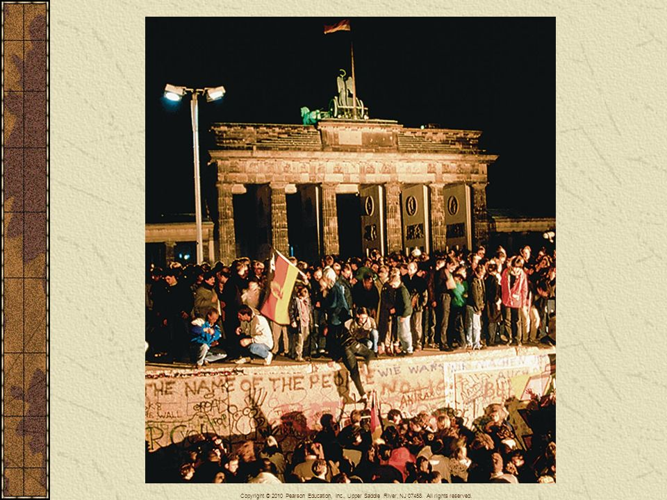 Collapse of the Berlin Wall - No single structure so illustrated the divisions of the Cold War as the Berlin Wall, which was erected in 1961. The most symbolic moment in the collapse of communism across Eastern Europe came in November 1989 when that wall was breached.