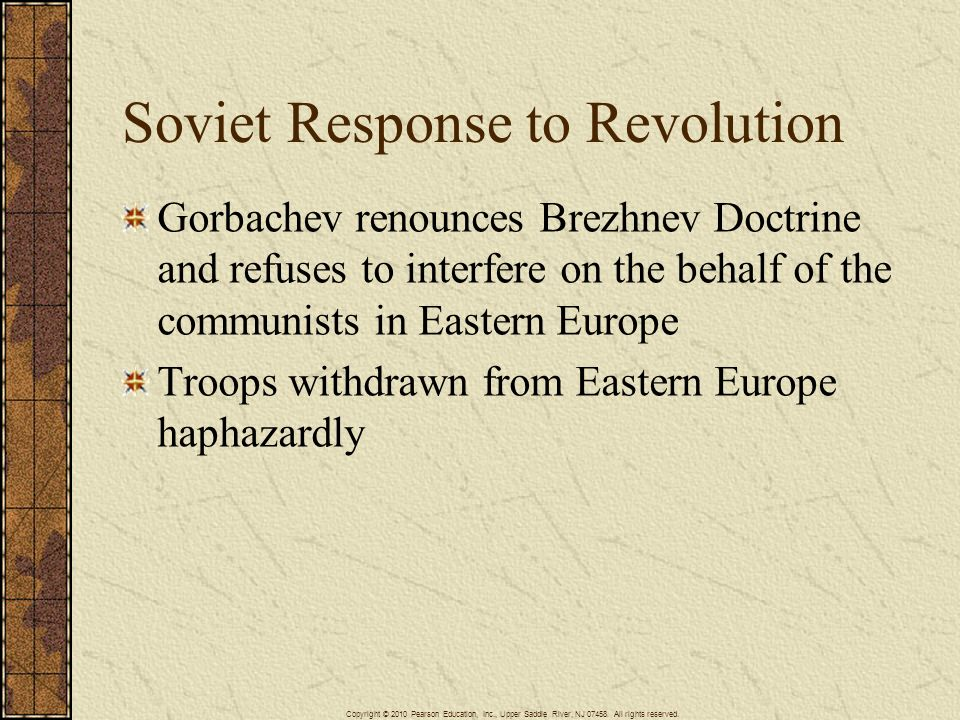 Soviet Response to Revolution