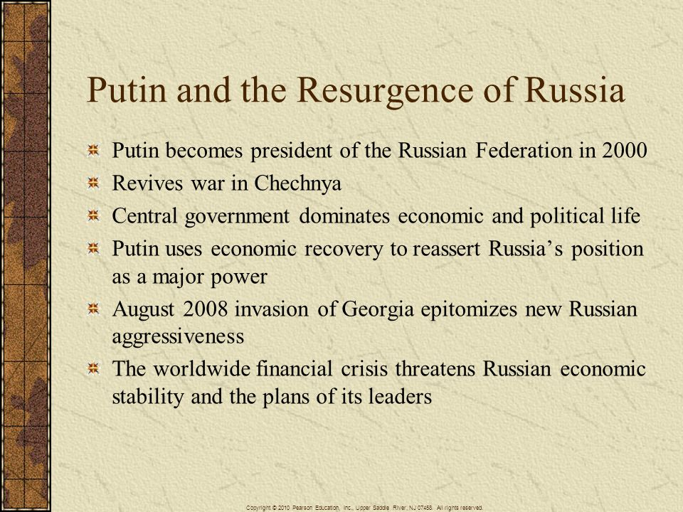 Putin and the Resurgence of Russia