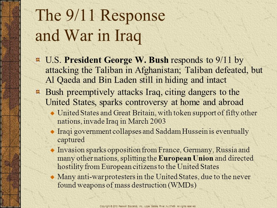 The 9/11 Response and War in Iraq
