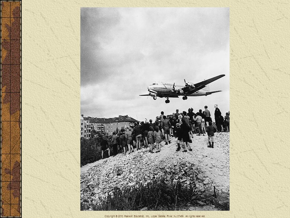 The Allied airlift in action during the Berlin Blockade