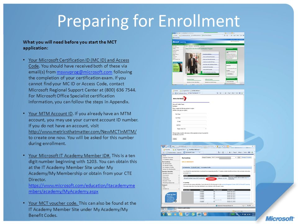 Preparing for Enrollment