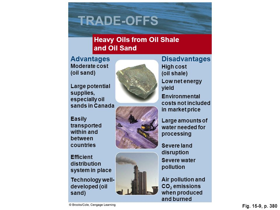 TRADE-OFFS Heavy Oils from Oil Shale and Oil Sand Advantages