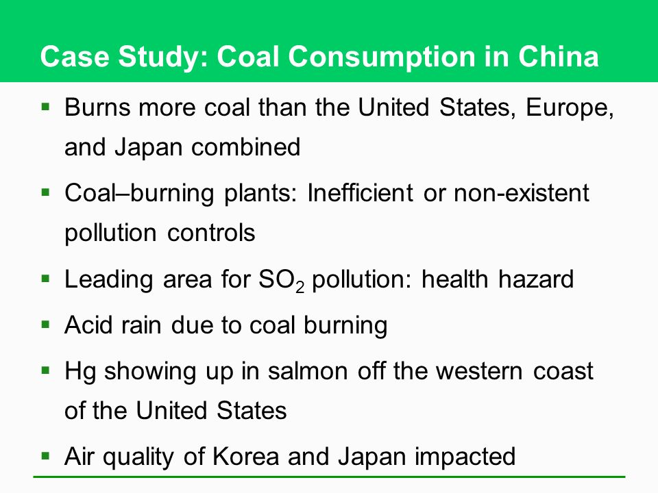Case Study: Coal Consumption in China
