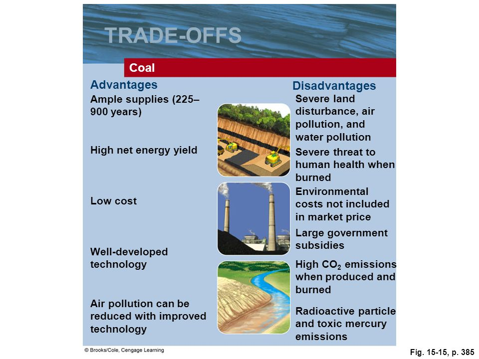 TRADE-OFFS Coal Advantages Disadvantages