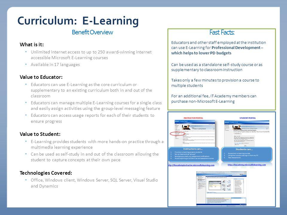 Curriculum: E-Learning