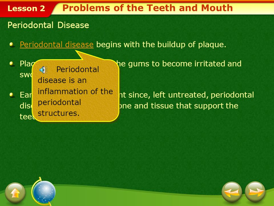 Problems of the Teeth and Mouth