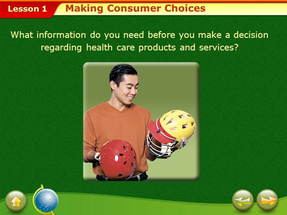 Making Consumer Choices