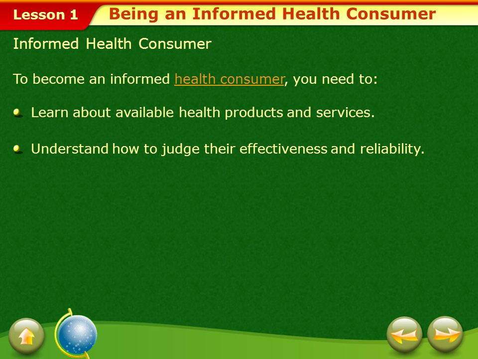 Being an Informed Health Consumer