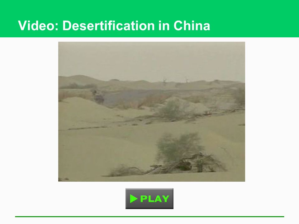 Video: Desertification in China