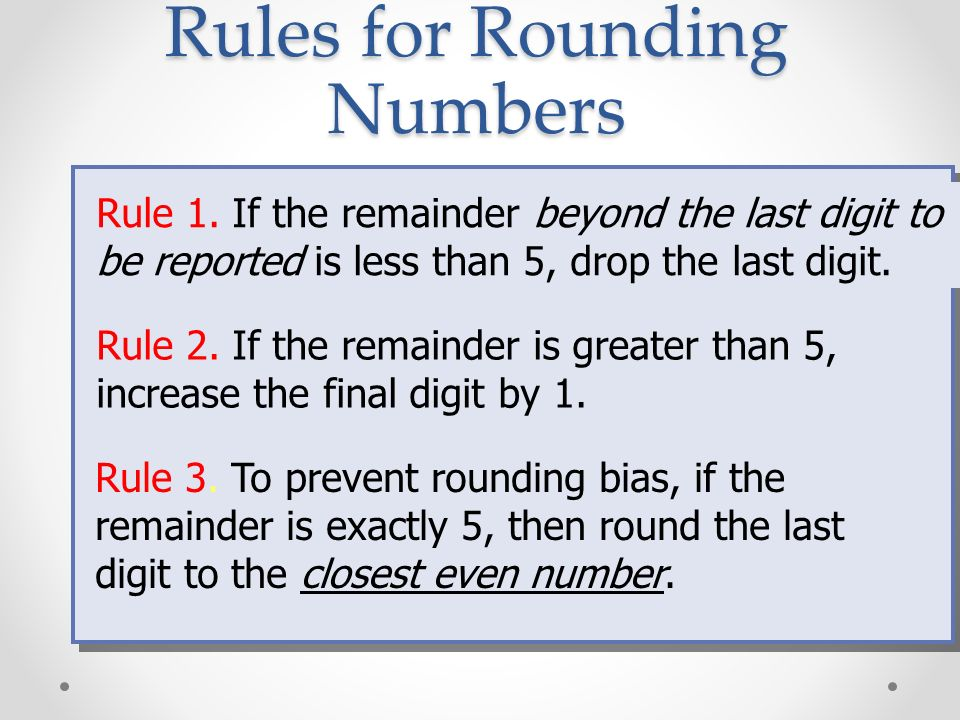 Rules for Rounding Numbers