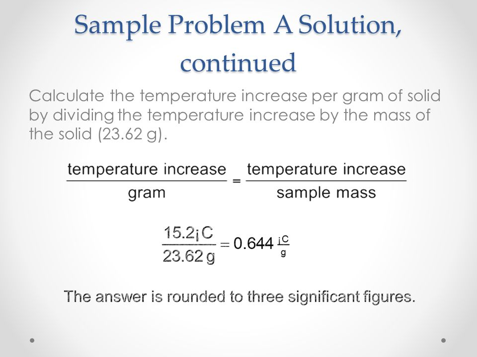 Sample Problem A Solution, continued