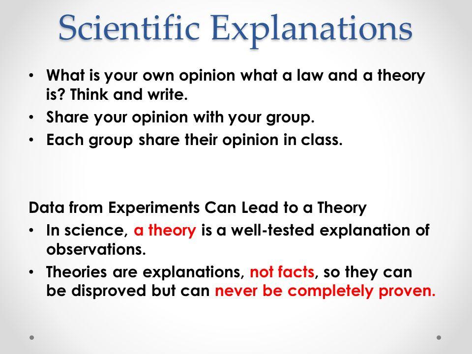 Scientific Explanations