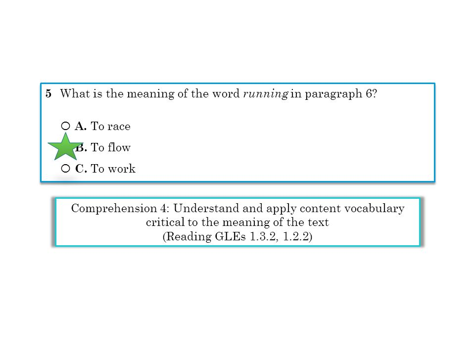 5 What is the meaning of the word running in paragraph 6