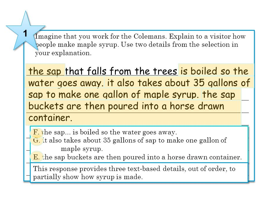 the sap that falls from the trees is boiled so the
