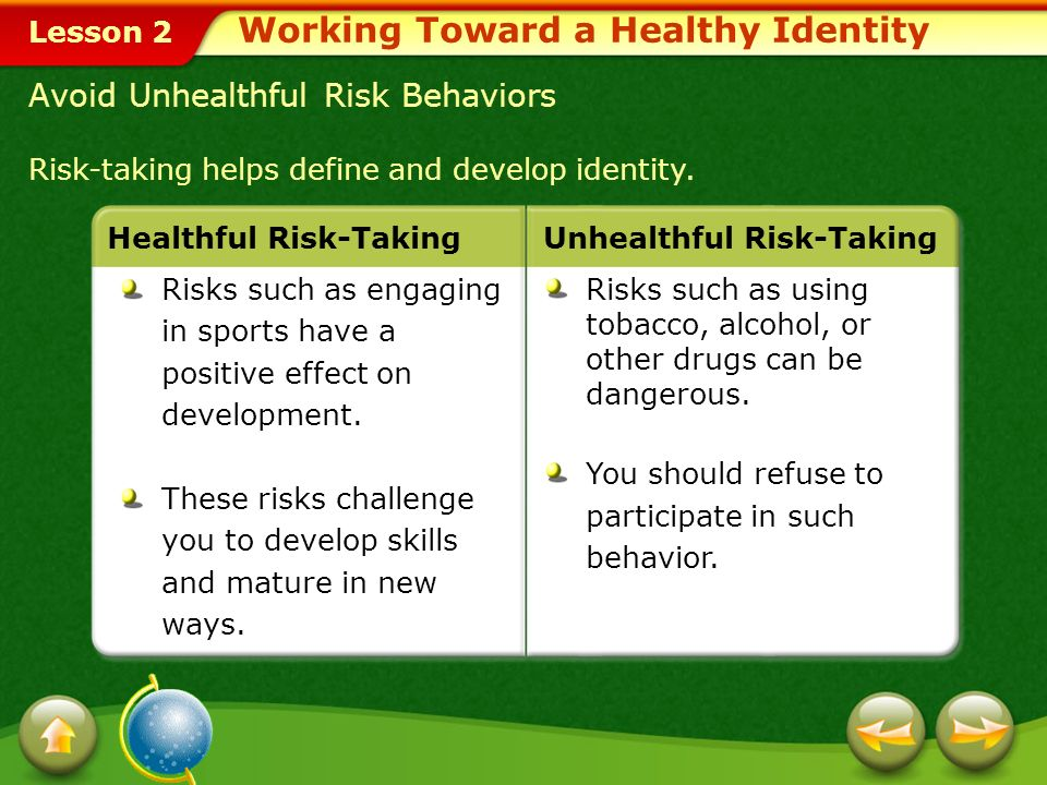 Working Toward a Healthy Identity