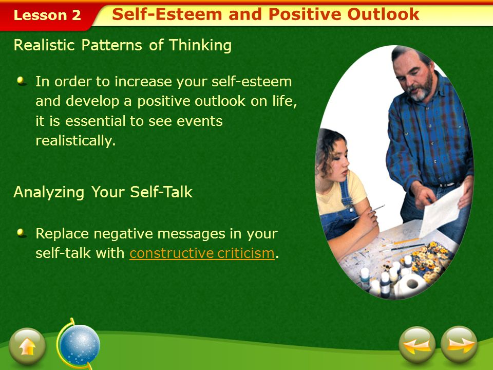Self-Esteem and Positive Outlook
