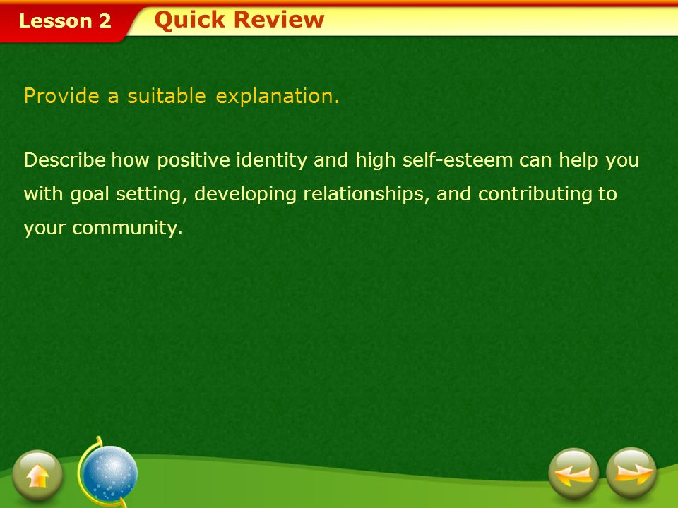 Quick Review Provide a suitable explanation.