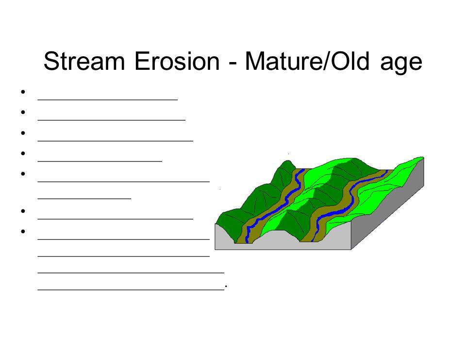 Stream Erosion - Mature/Old age