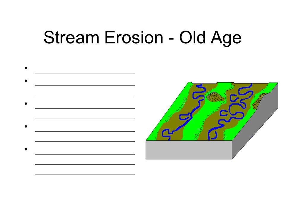 Stream Erosion - Old Age
