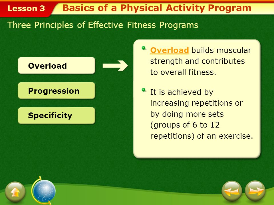 Basics of a Physical Activity Program