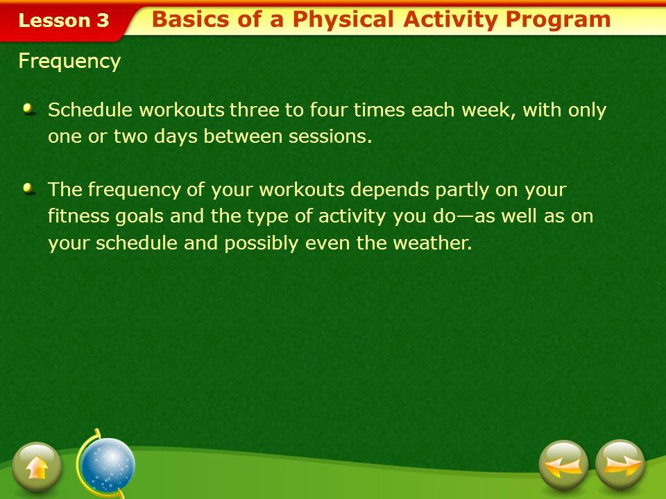 Basics of a Physical Activity Program
